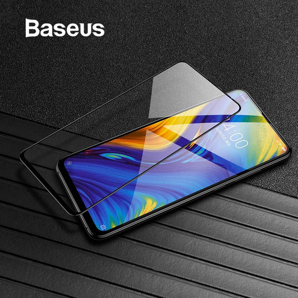 Baseus 0.3mm Thin Protective Glass For Xiaomi Mix 3 Screen Protector 9H Scratch Proof Anti Blue Tempered Glass For Xiaomi Mix3