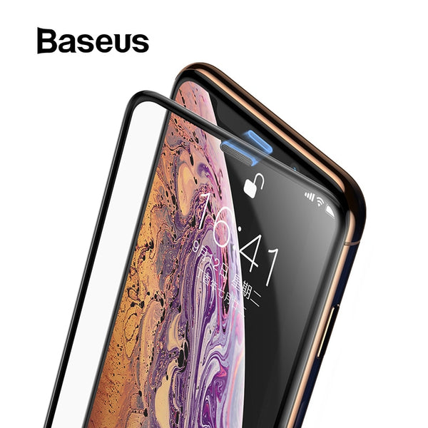 Baseus 3D Screen Protector For iPhone XR 0.3mm Ultra Thin Protective Glass For iPhone Xs X Xs Max Tempered Glass Front Film