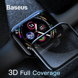 Baseus 0.3mm Protective Glass For Apple Watch 4 Full Coverage Tempered Glass For iWatch 4 Screen Protector Scratch Proof Film 9H