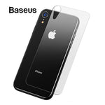 Baseus 0.3mm Transparent Back Temepred Glass For iPhone XR 6.1 2018 Back Film Scratch Proof Protective Glass For iPhone XR Glass