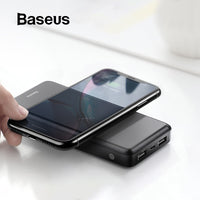 Baseus 10000mAh Wireless Charger Power Bank For iPhone Samsung Huawei Xiaomi Powerbank Dual USB Charging External Battery Pack