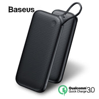 Baseus 20000mAh Dual USB Quick Charge 3.0 Power Bank For Samsung S9 iPhone X Xs Max Huawei Phone Powerbank USB PD Fast Charging