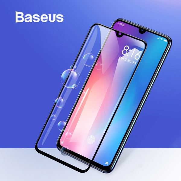 Baseus Protective Glass For Xiaomi 9 Screen Protector 0.3mm 3D 9H Full Coverage Tempered Glass For Xiaomi 9 Screen Protector