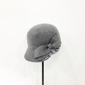 Ribbon & flill wool cap