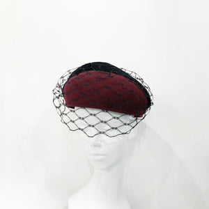 Honey comb veil beret