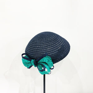 Abaca lace ribbon beret