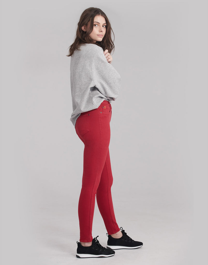 JEANS RACHEL COUPE ÉTROITE / Red Lip