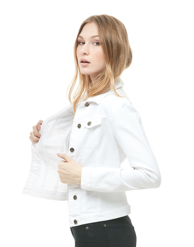 Veste En Denim White Yoga Jeans
