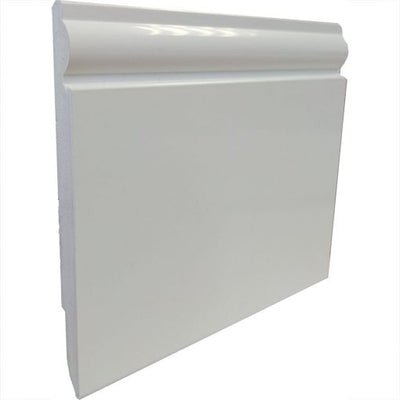 2 x 125mm x 2500mm Length Reversable Deeplas PVC Skirting Board - Floors To Walls
