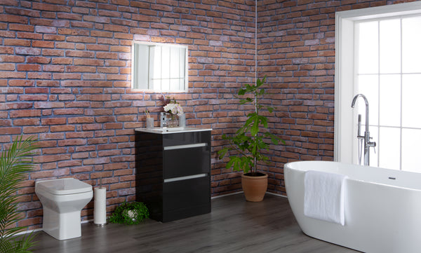 Rustic Red Brick - 4 Pack - Floors To Walls