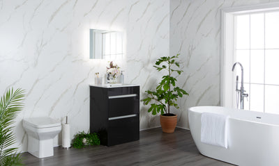 Large White Marble - 1m Shower Wall Panelling - Floors To Walls