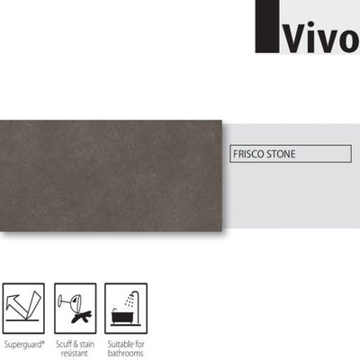Vivo Stone Click Luxury Vinyl Tile (LVT) | Frisco Stone | 2.00sq m