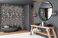Large Hexagon Anthracite/Grey - 1m Shower Wall Panelling - Floors To Walls