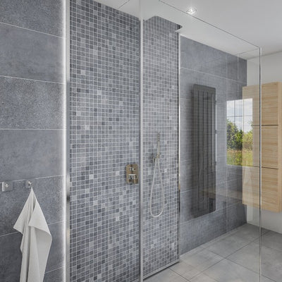 Bathroom and Shower cabin made of Roman mosaic