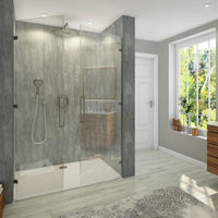 Large Lava Concrete - 1m Shower Wall Panelling - Floors To Walls