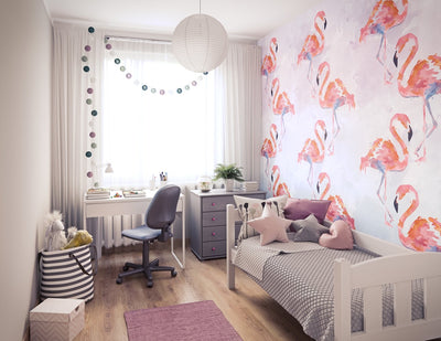Girls' room made of Vox Vilo Painted Flamingo panels