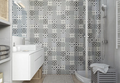 Bathroom made of Vox Vilo Patchwork Panels