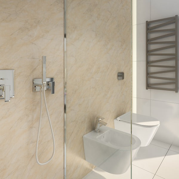 2 Sided Shower Wall Kit - Pergammon - Floors To Walls
