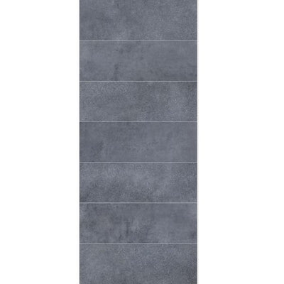 Large Roman Tile (Blue/Grey) - 1m Shower Wall Panelling - Floors To Walls