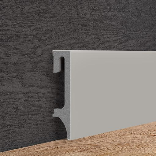Warm Grey Skirting Board Vox 80mm x 2500mm - Floors To Walls