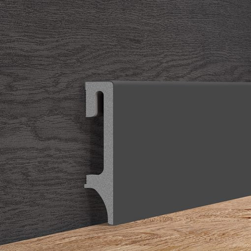 Anthracite Grey Skirting Board Vox 80mm x 2500mm - Floors To Walls