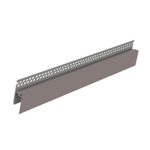 Vox External Cladding 2-Part Ventilation Top Edge Trim Light - Floors To Walls