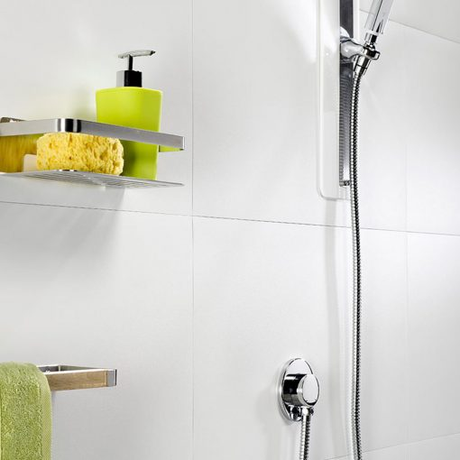 Dumawall+ Multifix White Solid Tile Bathroom Cladding - Floors To Walls