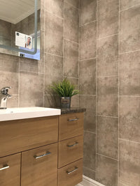 Cutline Beige Tile Effect - Floors To Walls