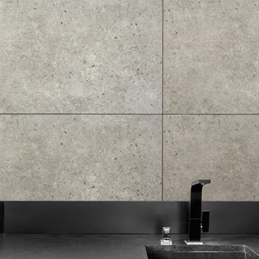 kitchen sink against the wall made of Dumawall Singlefix Tile Lyon Panels