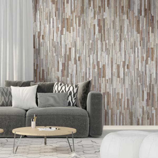 Living room made of Marino Wood Effect Panels