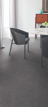 TLC Loc Midnight Limestone Stone Tile Effect Flooring - Floors To Walls