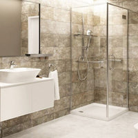 Bathroom and Shower cabin made of Vox Motivo Piastrella Panels