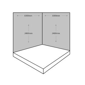 2 Sided Shower Wall Kit - White Sparkle - Floors To Walls