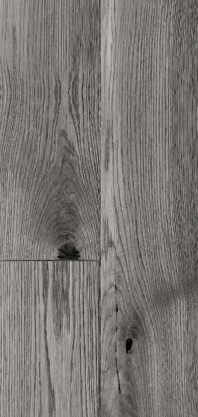 A Singiel Distressed Oak Grey Wall Panel from Wall Kit