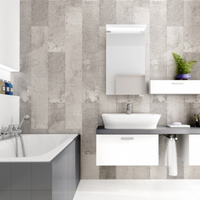 Bathroom made of Vox Motivo Piedra Pastello Panels
