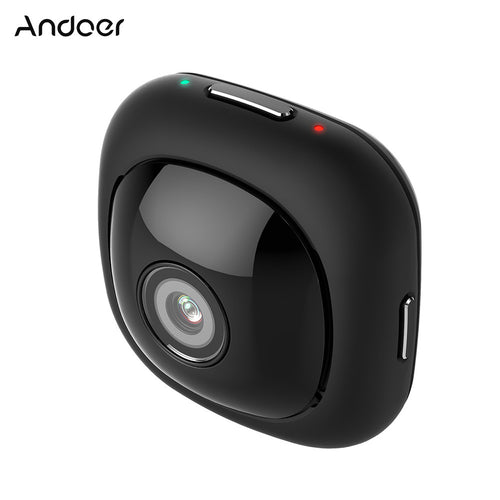 Andoer G1 Super Mini Sticky Adhesive Adsorbable Portable Compact Handy Handheld Full HD Pocket Camera 120 Degree Wide Angle 1080P 30FPS Wifi App Remote Control 8MP Auto Selfie