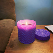 Load image into Gallery viewer, Lavender and Lemon Verbena soy candle - 16 oz purple jar