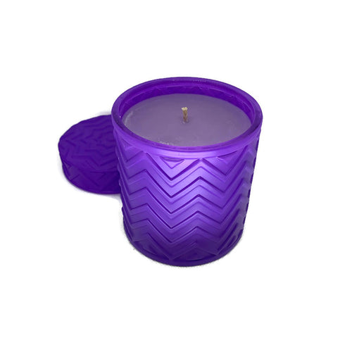 Lavender and Lemon Verbena soy candle - 16 oz purple jar