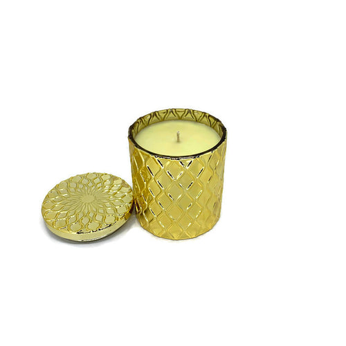 Gardenia soy candle - gold 8 oz jar