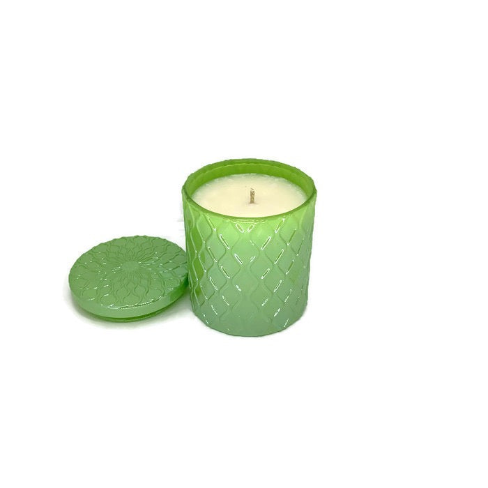 Cucumber Melon soy candle - 8 oz green Amaris jar
