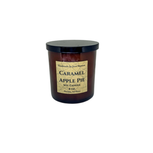 Caramel Apple Pie soy candle - 8 oz amber jar