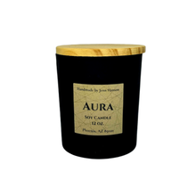 Load image into Gallery viewer, Aura soy candle - 12 oz matte black jar