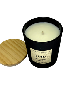 Aura soy candle - 12 oz matte black jar