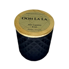 Load image into Gallery viewer, Ooh La La soy candle - 8 oz matte black jar