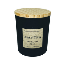 Load image into Gallery viewer, Mantra (Lavender, Amber, and Sage) soy candle - 12 oz matte black jar