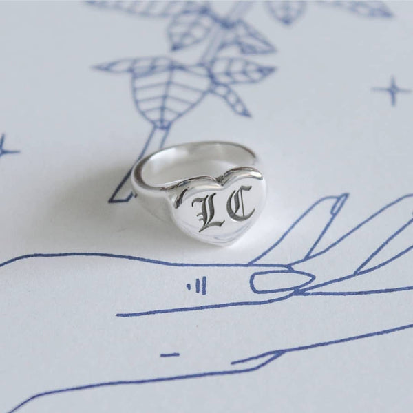Custom Sweetheart Signet Ring