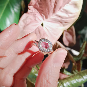 Nugget Ring// Hot Pink Tourmaline