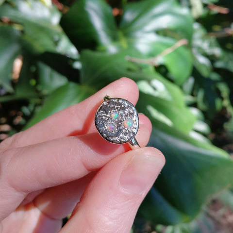 Nugget Ring // Triple Aussie Opal