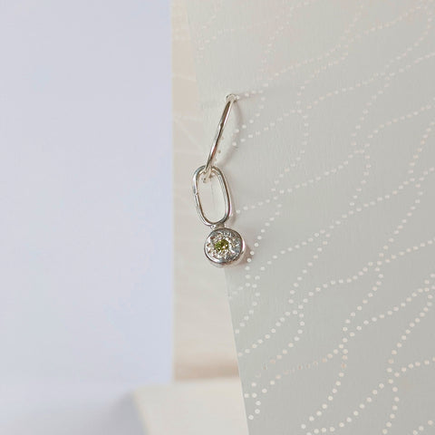 Sleeper Charm // Peridot // Medium Dangle