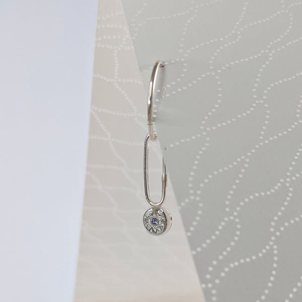 Sleeper Charm // Lavander Cz // Long Dangle